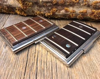 Wood/Wooden Wallet/ Credit Card? Business Card Case: Honduran Rosewood, Bass Guitar/ Guitar Fretboard