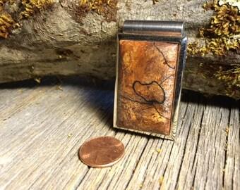 Wooden Money clip: Spalted Maple Burl