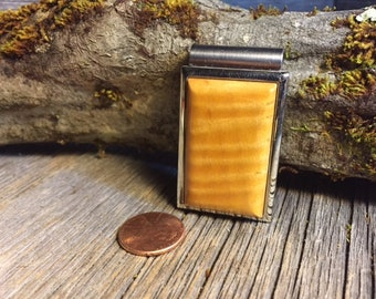 Wood/ Wooden Money Clip: Curly maple