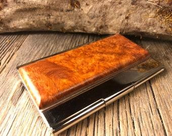 Wood/ Wooden Business /credit card case/holder: Malee Burl