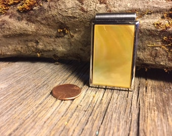 Money clip: AAAA Gallery Grade gold Mother of Pearl