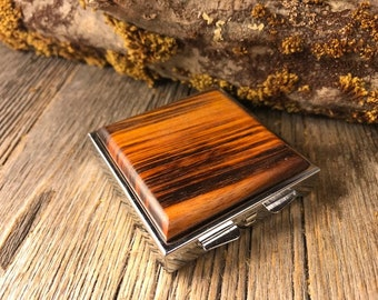 Wood/ Wooden Pill box: AAAA Rosewood, 4 partitions