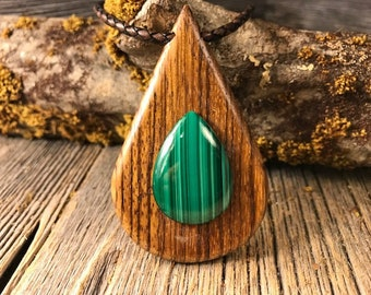 Wood/ Wooden pendant necklace