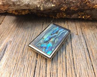 Money clip: AAAA Gallery Grade Green Blue Paua Abalone