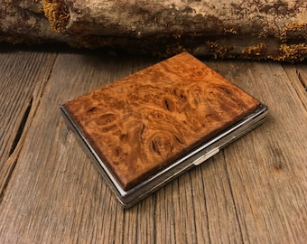 Wood/ Wooden ,Business/ Credit card,Wallet, Cigarette Case: AAAAA Gallery grade Madrone Burl