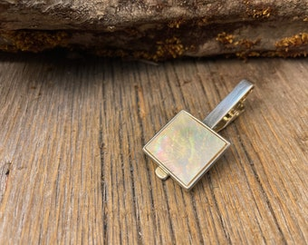20 mm AAAAA Gallery White mother of Pearl Tie clip