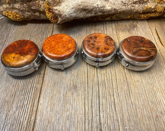 Wood/ Wooden Pill/ Keepsake container/ box: 3 Partitions, 1 compartment