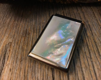 Money clip: AAAAA Gallery grade white Mother of pearl