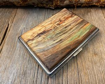Wood/ Wooden ,Business/ Credit card,Wallet,  Medicinal Herb/Cigarette Case: AAAAA Gallery grade spalted North American Hardmaple