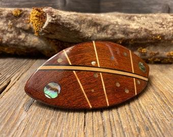 Wood/ Wooden Barrette/ Hairclip: AAAAA Gallery Grade Rosewood ( Medium)