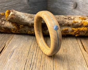 Wood/ Wooden Cuff Bracelet; Curly maple