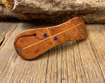 Wood/ Wooden Barrette/ Hairclip; AAAAA Gallery Grade Maple Burl, ( Medium)