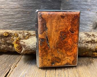 Wood/ Wooden ,Business/ Credit card,Wallet, Medicinal Herb/ Cigarette Case:AAAAA Gallery grade Cherry Burl