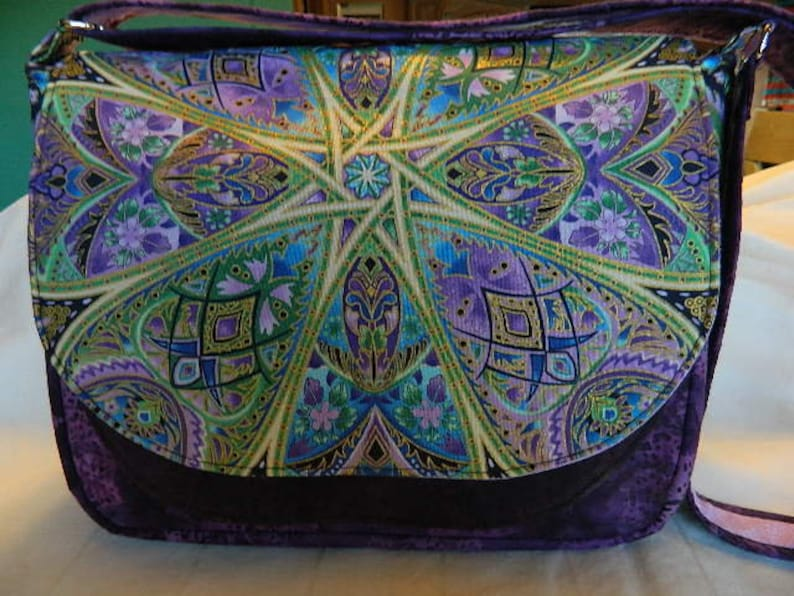 purse Peggy Toole fabric Purple FREE SHIPPING RFID lined cross-body bag Flaptastic shoulder bag