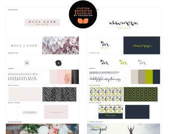 Custom Designed Full Branding Kit / Branding Package / Logo / Bespoke Branding / Branding  / Pattern & Type