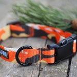 Dog Collar - Sunset Camo with Black Buckle