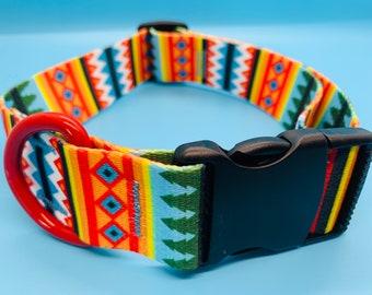 "Dog Collar -1.5""- Summer Pines"