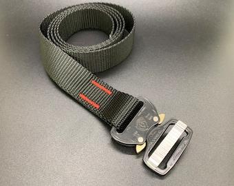 Cobra Buckle Belt - Black with Black Buckle