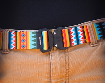 "Fauxbra Buckle Belt - 1.5""-  Summer Pines"