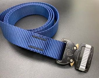 Cobra Buckle - One Inch - Navy Blue with Black Buckle