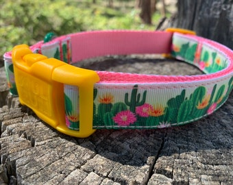 Dog Collar - Cactus Flower