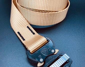 Cobra Buckle Belt- One Inch- Khaki with Black Cobra Buckle