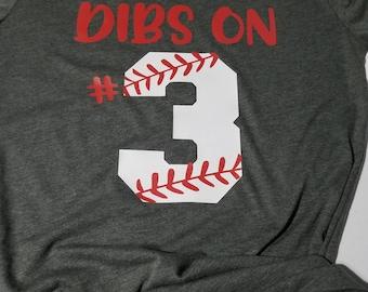 cdee430dd1 Dibs on Baseball Shirt, Baseball Number Shirt, Baseball Mom, Baseball Tank,  Personalized Shirt, Baseball Girlfriend, Womens T-Shirt