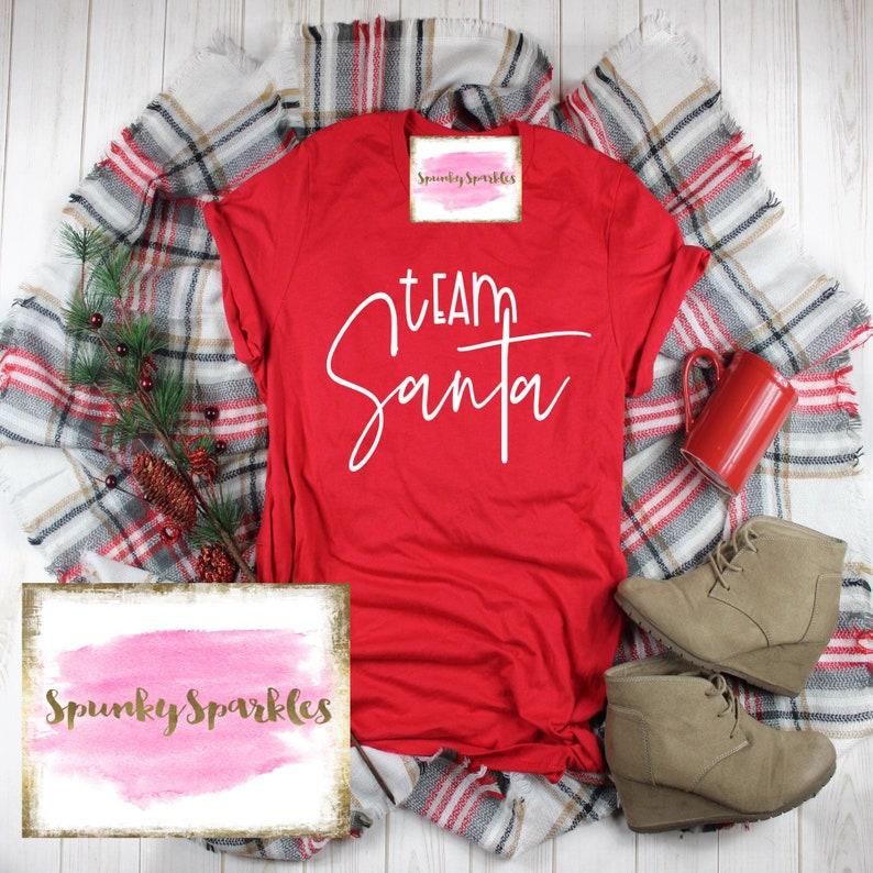cbeb0f7ddf Team Santa Shirt Santa Baby Shirt Christmas Tee Santa