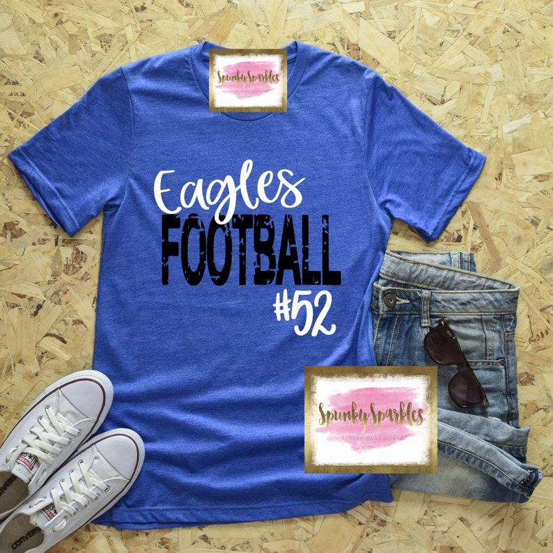472afd168 Football Mom Shirt Custom Football T-Shirt Womens Football | Etsy