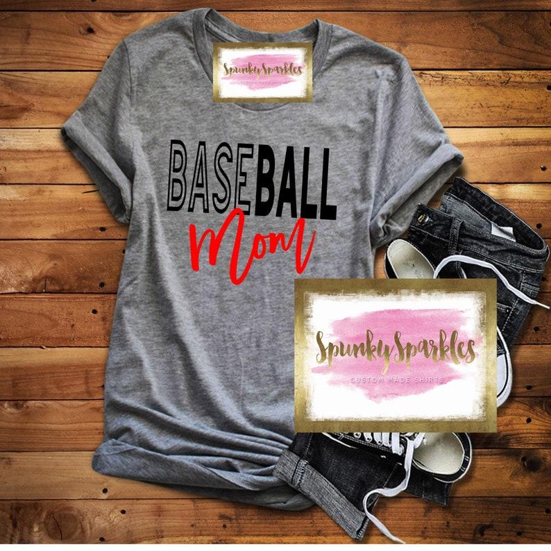 d8752aec Baseball Mom Shirts Baseball Tank Baseball T-Shirt Womens | Etsy