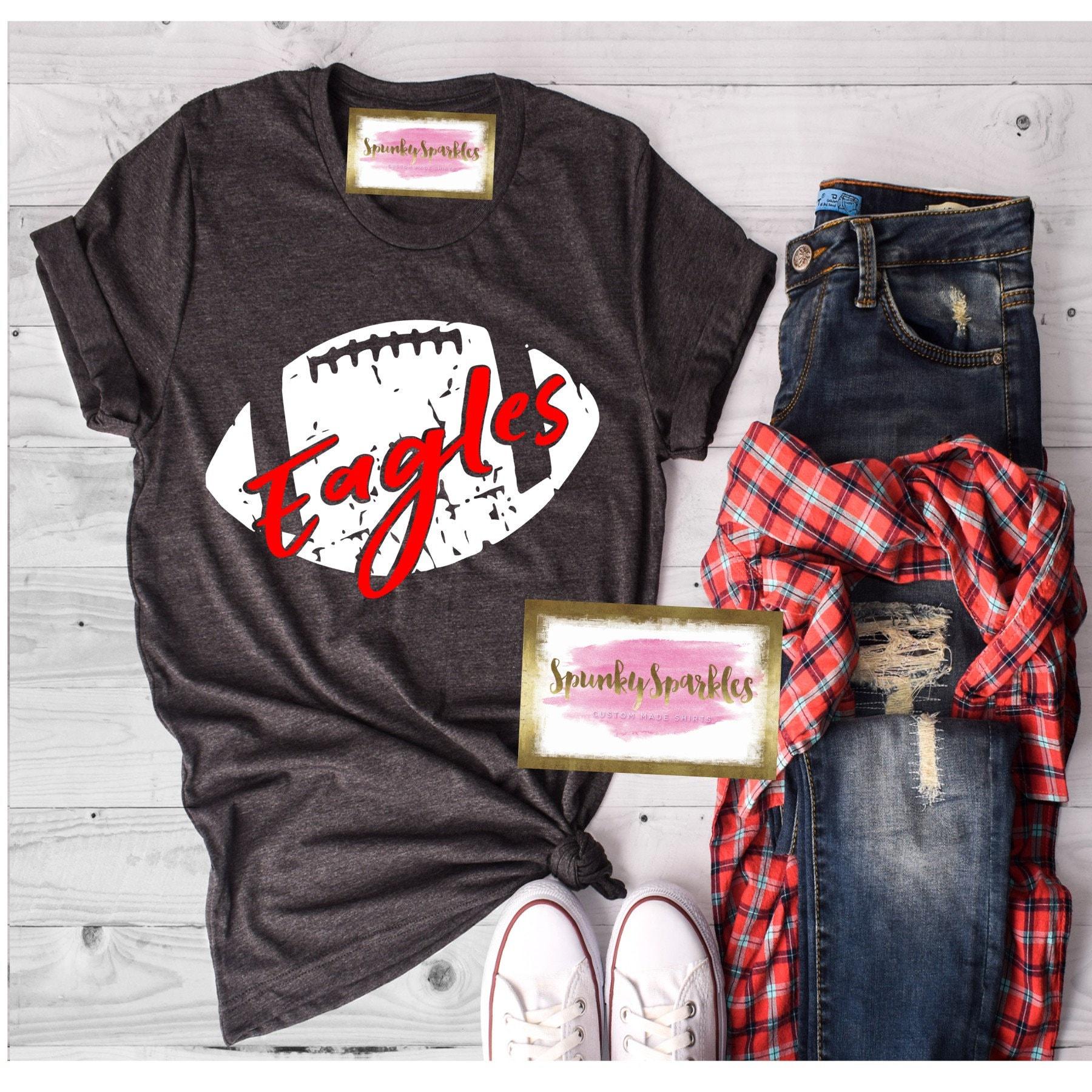 Football Shirts For Women Custom Football Shirt Football Mom Etsy