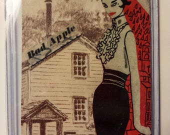 Bad Apple, ACEO Collage, Vintage