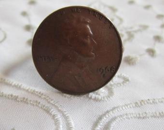 Vintage 1968 Copper Penny Ring