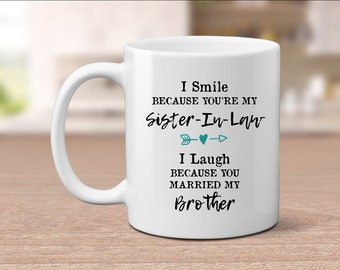 Sister In Law Gift Mug Wedding Birthday Bridesmaid Proposal Funny Sis Gifts For