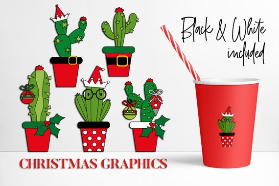 Christmas Cacti.Clip Art Christmas Cactus Clipart Christmas Cacti Succulent Plant Commercial Use Png Files