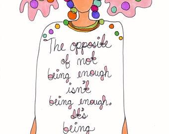 It's Being Myself.  Art print by Rachel Awes.