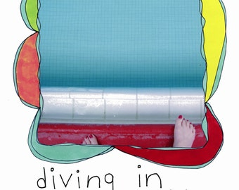 """The book """"diving in"""" by Rachel Awes. Endorsed by SARK and Brian Andreas/Storypeople."""