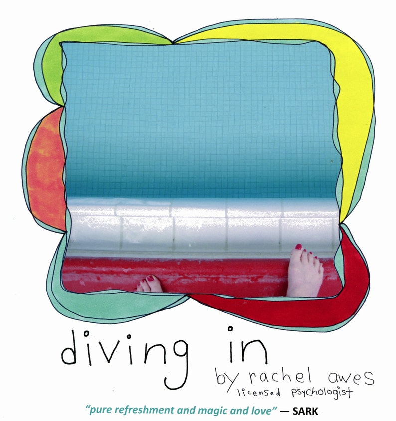 The book diving in by Rachel Awes. Endorsed by image 0