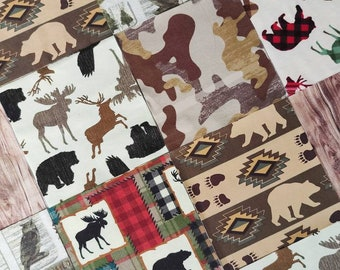 """36 - 6.5"""" Pre-cut Squares of fabric for Baby or Toddler Pre-cut Quilt Top 