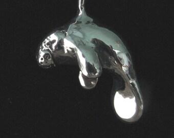 Manatee Sterling Silver Pendant
