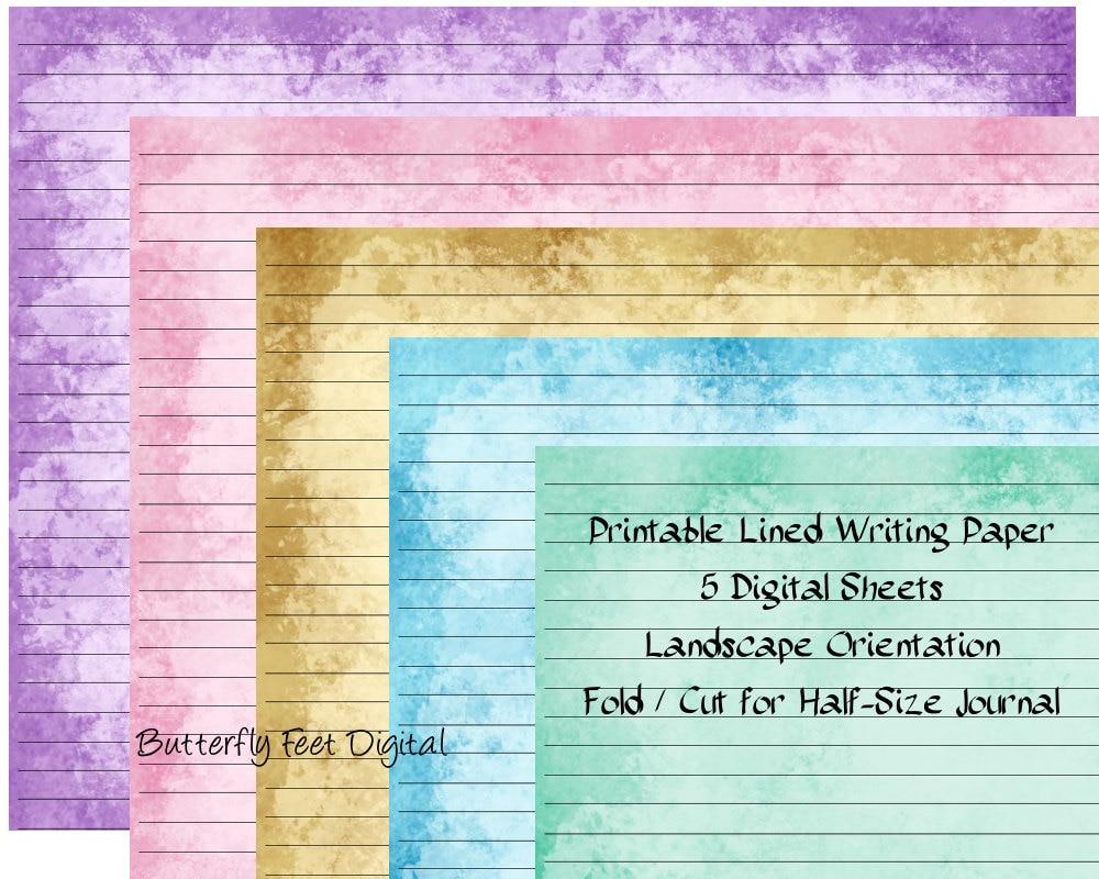 Printable Lined Writing Paper Landscape – Articleblog info