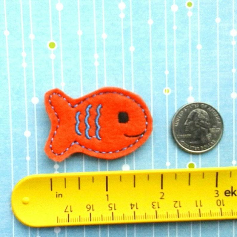 Fish Felties Four Cut Orange and  Blue Felties