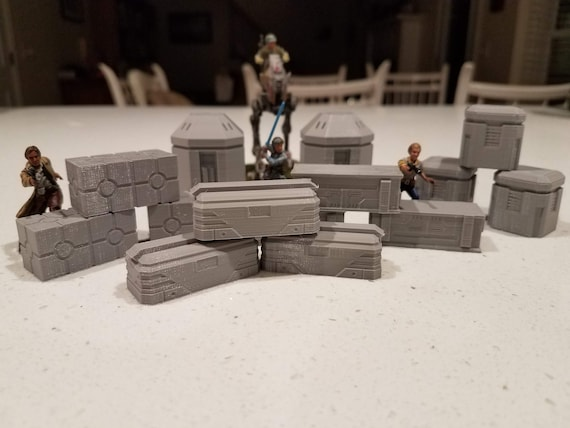 Star Wars Legion Terrain Assorted Crates Etsy
