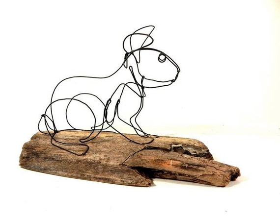 Hase-Draht-Skulptur Kaninchen Draht Kunst 227571577 | Etsy