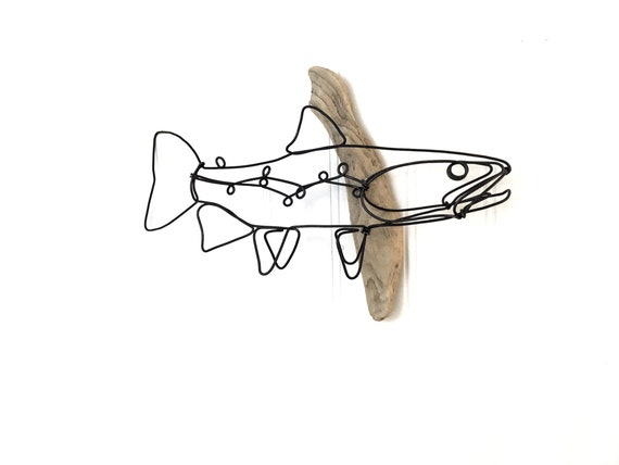 Trout Wall Art Trout Wire Sculpture Fish Art Fish