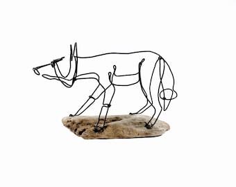 Fox Wire Sculpture, Wire Sculpture, Wire Art, 542654583