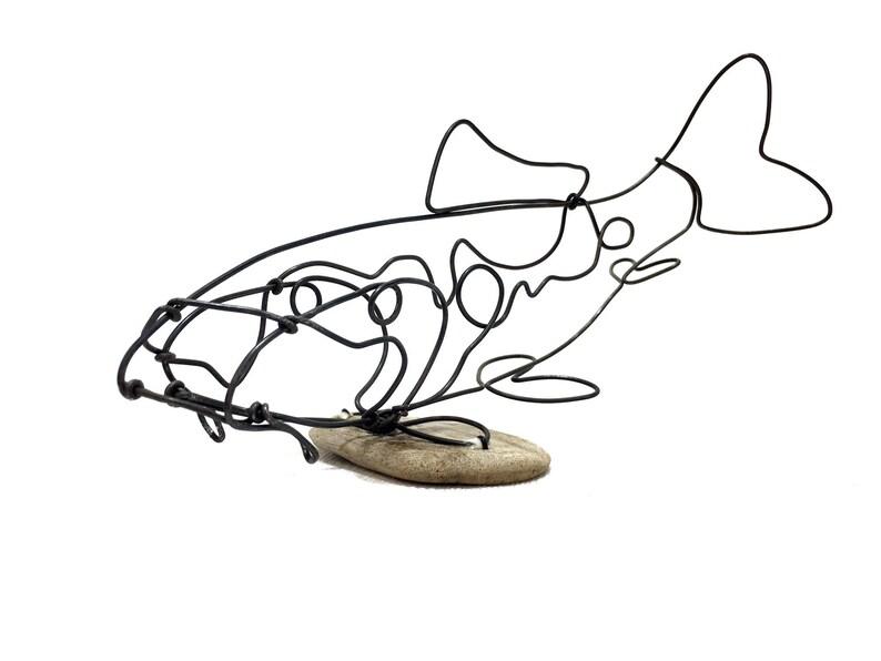 Koi Wire Sculpture Carp Fish Wire Art Minimal Wire Design