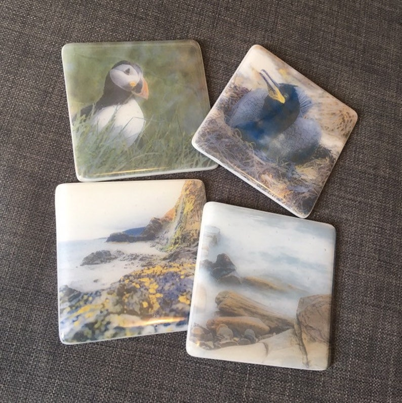 Full Colour Picture  Personalised Printed Glass Coaster image 0