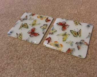 Printed Beautiful Butterflies Coaster