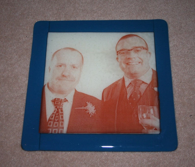 20cm x 20cm Printed Glass Panel  made to order in any colour image 0